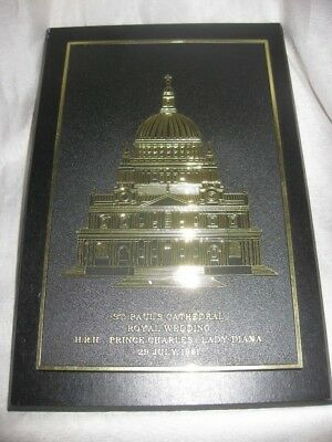 Prince Charles Lady Diana 1981 Wedding St Paul's Cathedral Royal Wedding Plaque