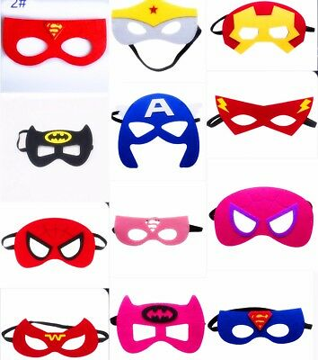 Girs Boy Cosplay Superhero Mask for kids birthday party favors and ideas  CA