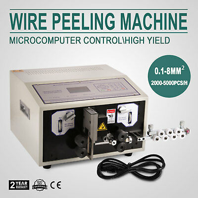 Computer Wire Peeling Stripping Cutting Machine Microcomputer 100mm/H Mechanical