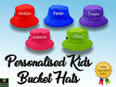 Personalised Kids Bucket Hats