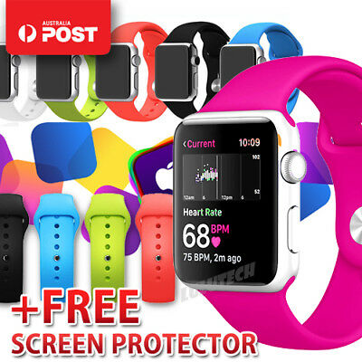For Apple Watch iWatch Band Replacement Silicone Bracelet Strap Series 3 2 1