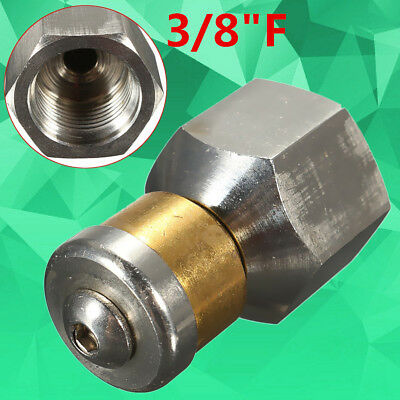 Pressure Washer Rotary Cleaning Nozzle Steel 3/8''F B.S.P 3 Rear Jet Size New