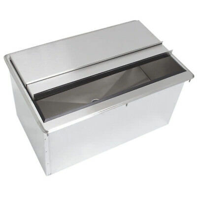 "15"" x 18"" Stainless Steel Drop In Ice Bin"