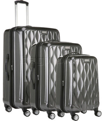 Antler Liquis RS Hardside Suitcase Set of 3 Charcoal 44015, 44016, 44058 with FR