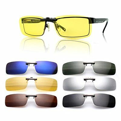 SAISZE New Driving Polarized UV 400 Lens Clip-on Sunglasses Glasses Day