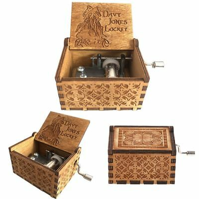 Pirates of the Caribbean Music Box Engraved Wooden Music Box Kids Toys