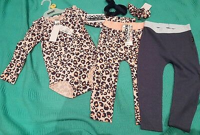 Bonds Pink Frilli Bodysuit Stretchies and Scrunchies Nwt lot size 2