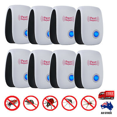 8X Rodent Control Ultrasonic Pest Repeller Electronic Mouse Rat Mosquito Insect