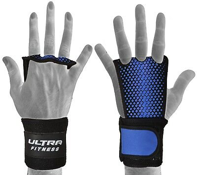 Textured Leather hand Grip palm protector with wrist support for WODs & Pull Ups