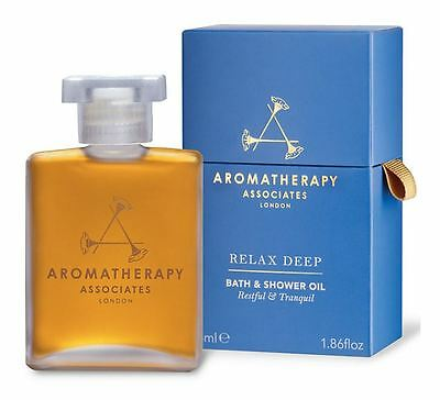 Aromatherapy Associates Deep Relax Bath & Shower Oil 55ml * NEW & SEALED *