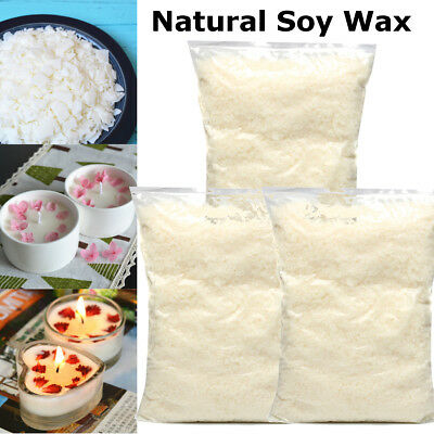 3kg Professional 100% Natural Soy Wax Flakes Candle Making Supplies Home DIY