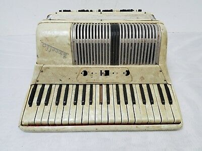 Vintage Excello Student Size 41/120 Piano Accordion For Repair