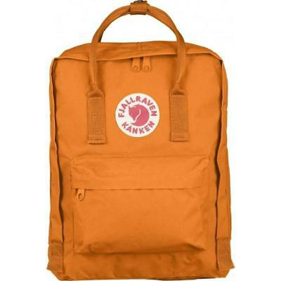 Fjallraven Kanken Classic Grey Burnt Orange Backpack GENUINE Fast Shipping
