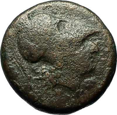 SYRACUSE in SICILY Ancient 305BC RARE R1 Greek Coin w ATHENA & PEGASUS i66565