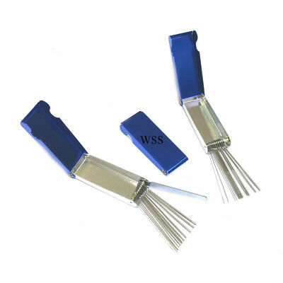(PACK OF 3) Gas burning cutting nozzle tip cleaners cleaning files in metal case