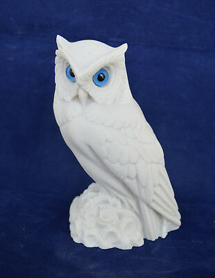 Owl sculpture alabaster statue Ancient Greek symbol of knowledge and wisdom