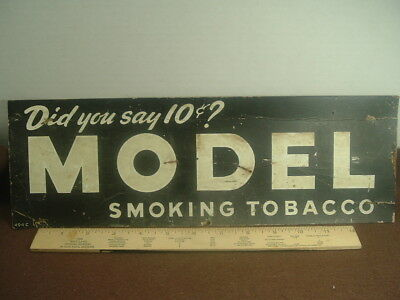 "Antique Model Smoking Tobacco Sign ""did You Say 10 Cents"" Card Stock"