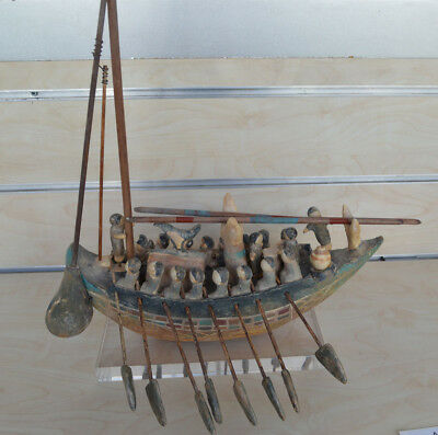 Ancient Egyptian clay ship inspired by Ancient Greek frescos unique artifact