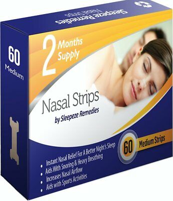 Nasal Strips Medium x60 By Sleepeze Remedies | Nose Strips To Stop Snoring