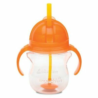 Munchkin Click Lock Weighted Flexi Straw Trainer Cup, Orange, for 6  months, 7oz