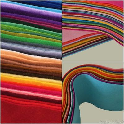 Wool Mix Soft Craft Felt   Offcuts   Clearance   20 or 40 Colour Bargain Packs
