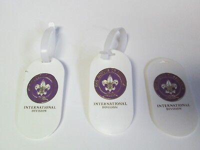 LOT OF 3 INTERNATIONAL DIVISION BOY SCOUTS OF AMERICA LUGGAGE TAGS Vintage