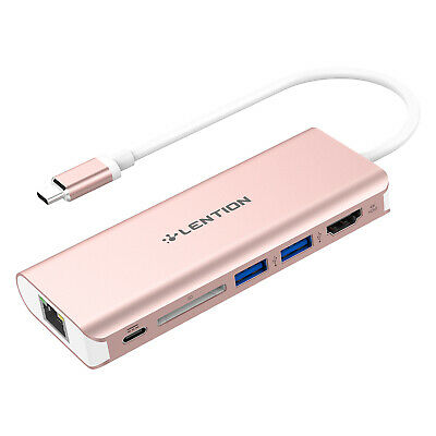 USB-C 3.0 HUB HDMI Gigabit Ethernet Adapter for MacBook Air13/ Pro 13/15 Dell HP