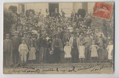 SAINT JEAN DE BOURNAY - La Vogue - CARTE PHOTO - FÊTE DES CORNARDS - Animée RARE