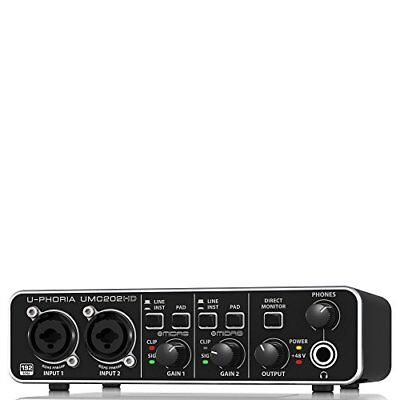 Behringer UMC202HD U-Phoria Audiophile 2x2 USB Audio Interface FREE 2DAY