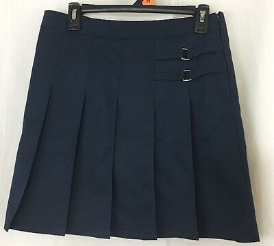 Girls French Toast Navy Blue Pleated Uniform Skirt Skort 14 1/2 Plus
