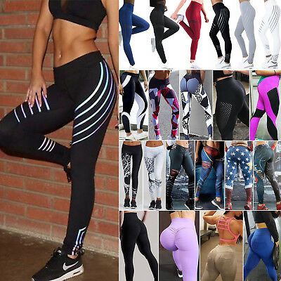 Damen Leggings Yoga Gym Fitnessmode Sports Jogginghose Leggins Trainingshose