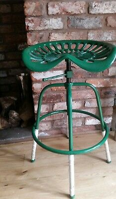 Vintage Tractor Seat Bar Stool Rustic Cast Iron Metal Style Garden Industrial
