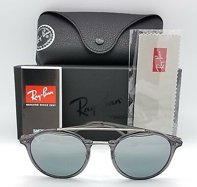 1f8d7b5cbb NEW Rayban Sunglasses RB4266 620088 49 Grey Gradient Flash Round 4266  AUTHENTIC
