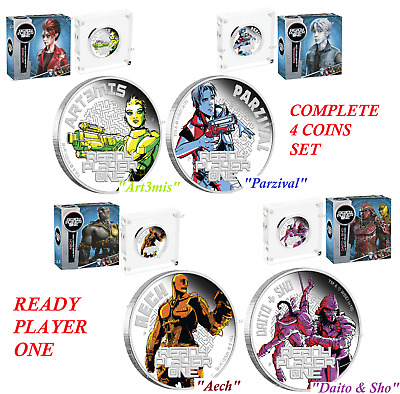 2-coin-set 2018 Ready Player One Aech Daito /& Sho Proof SILVER $1 1oz NGC PF70