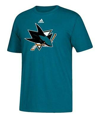 San Jose Sharks Men's Adidas NHL Primary Logo T-Shirt - Teal