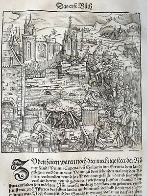 Livius History of Rome Post Incunable Woodcut Schoeffer (51) - 1530
