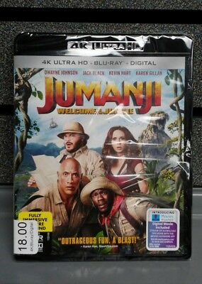 Jumanji 2017 | 4K Ultra HD /100% Genuine Bluray/ Digital | Ships Fast