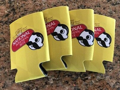 "4 Natty Boh  BEER CAN COOLERS KOOZIE COOLIE HUGGIE ""Tabs for Crabs"""