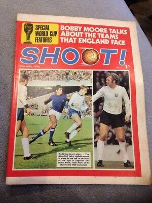 SHOOT FOOTBALL MAGAZINE 13th June 1970 Chelsea Graham Cross Etc