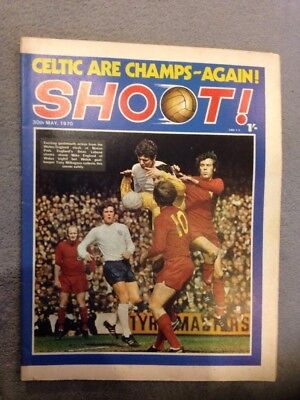 SHOOT FOOTBALL MAGAZINE 30th May 1970 John Greig Etc