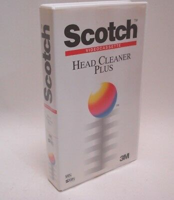 Scotch VHS Head Cleaner Plus Video 3M Cleaning Cassette Tape SVHS