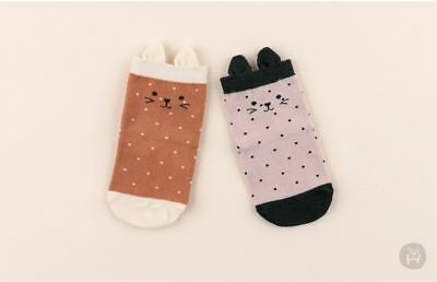 Korean Baby Socks (Animal face - 12~24M)