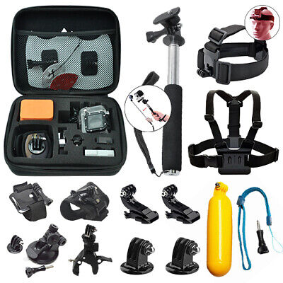 Action Camera Accessory Kit for GoPro Hero 7 6 5 4 3+ 3 2 1 - 15pc Deluxe Bundle
