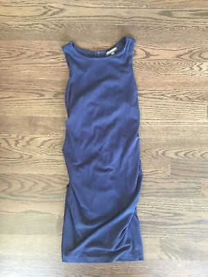 A Pea In The Pod Maternity Dress Navy Blue Sleeveless Small