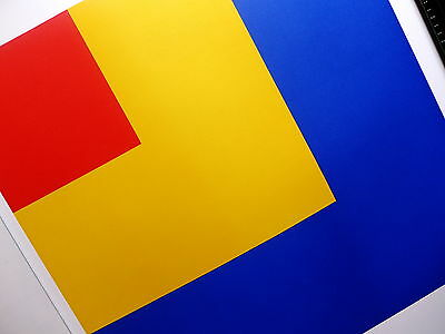 Ellsworth  Kelly     --- Red - Yellow - Blue ---     Lithographie