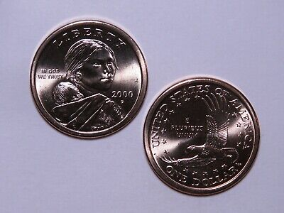 2000-P Sacagawea Native American Dollar - Uncirculated from US Mint Rolls