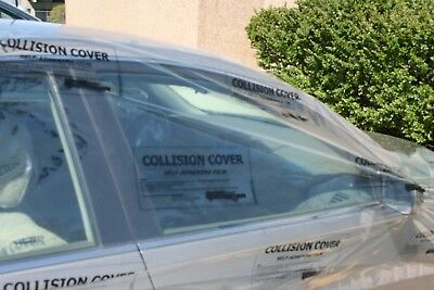 "1 Roll Collision Crash Wrap Adhesive Clear With Uv Protection 3 Mil 36"" X 100'"