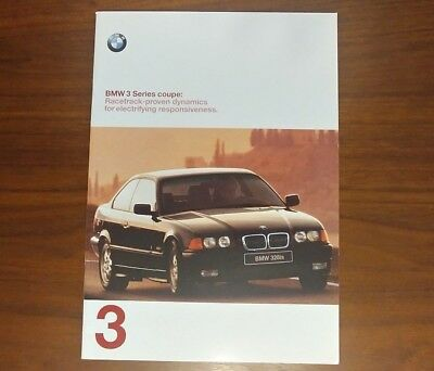 BMW BROCHURE 1998 323is 328is E36 COUPE COLLECTIBLE ADVERTISING CLASSIC BIMMER