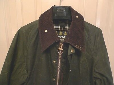 Barbour- A150 Beaufort Waxed Cotton Jacket- Sage--Made In England- Size 42
