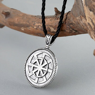 Ancient Slavic Talisman Pendant Kolovrat Wheel Men Necklace Talisman Jewelry Gif